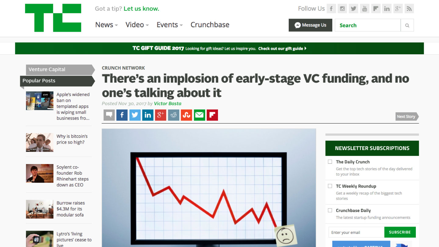 There's an implosion of early-stage VC funding