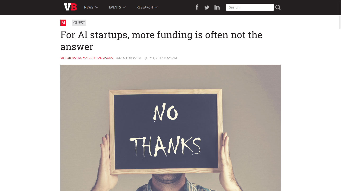 For AI startups, more funding is often not the answer
