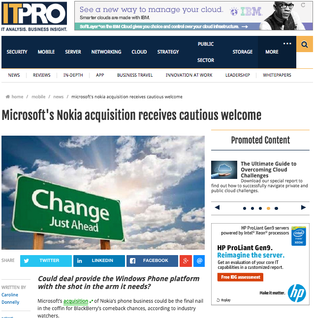 Microsoft's Nokia acquisition receives cautious welcome