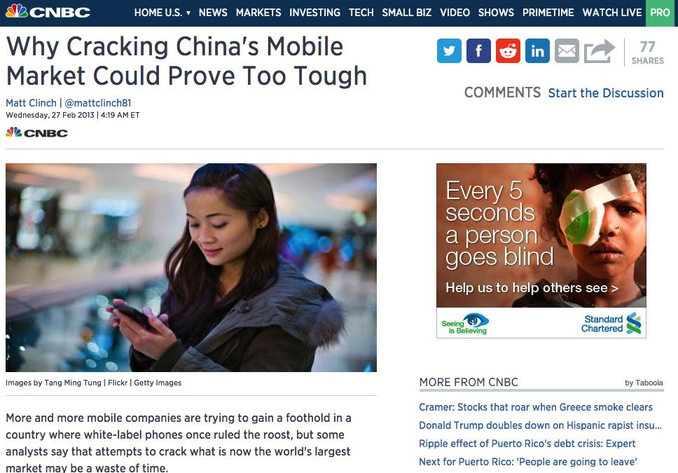 Why Cracking China's Mobile Market Could Prove Too Tough