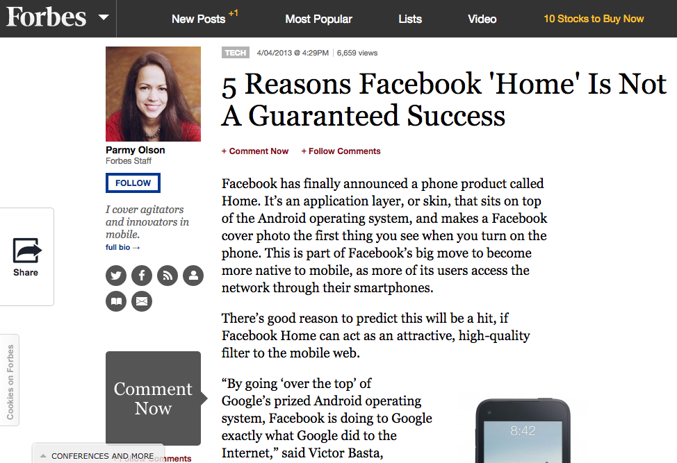 5 Reasons Facebook 'Home' Is Not A Guaranteed Success