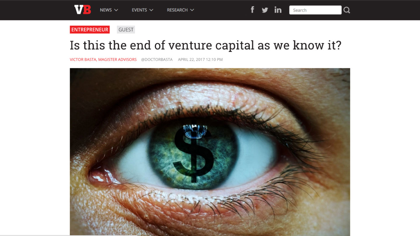Is this the end of venture capital as we know it