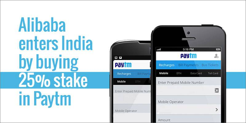 Alibaba enters India by buying 20% stake in Paytm